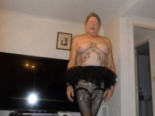 Hi all I still can not work out why my hubby got me a tutu, he wants me to wear it when we go out shopping. dirty comments welcome mature couple