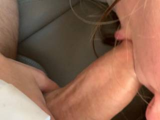 She use to work for me and I had daily access to her but we still see each other a lot and I  enjoy feeding her insatiable cock sucking and cum desire