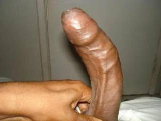 Beautiful, big, thick, long, black, chocolate cock...;-)