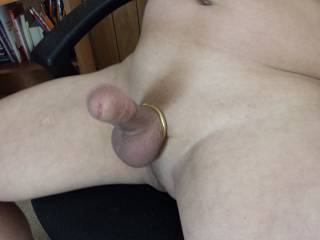 I like your smooth hard cock and that cock ring.