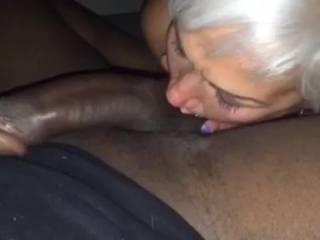 My girl gives my balls a good sucking & licks my ass