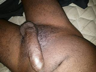 Mouth then pussy? Or u wanna taste your pussy on my dick?