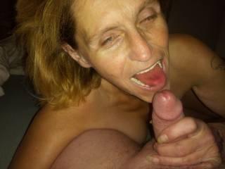Licking cum