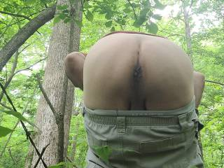 Ready for your hard cock from behind...