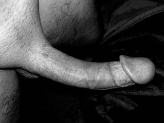 Big cock in Black and white