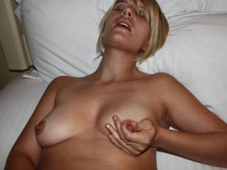 come suck on my hard nipples