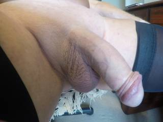 Do you like this close up shot of my shaved cock ladies?