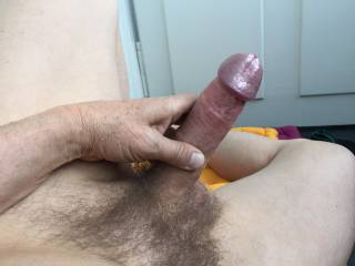 holding my dick and showing the beautiful shiny head, lazily lying in the sun dreaming of some sexy fun with a sweetie