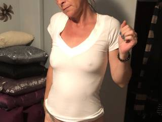 me in sexy white t-shirt