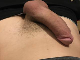 My dick a lil hard this morning . Wish a hot milf would finish me off