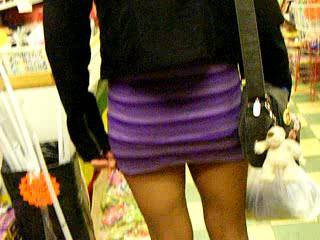 out shopping in blackpool, flashing when possible