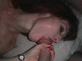 Here I get a BJ from the ex-wife.