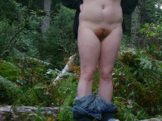 Would love to join you for some naked fun in the woods.