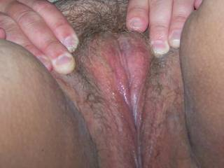 i can onl imagine sliding my rock hard cock theough those nice fat and juicy lips feeling the squeeze of every muscle milking me of the last drop of cum as you pussy overflows and soaks the sweet asshole only to be licked clean and fuckand filledwith cum only to clean and repeat