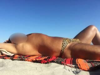 leopard skin thong, Atlantic City beach