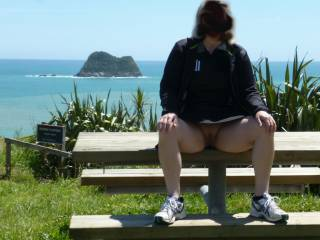 On holiday and a sunny day at last .Time to get some fresh air up my skirt .Any other suggestions ?