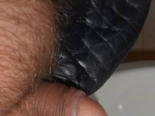 Tiny dick on slipper