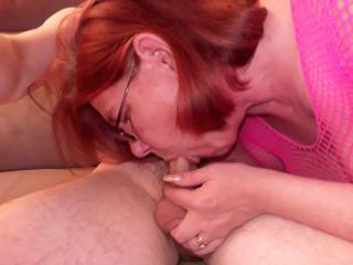 I just love sucking his cock - anyone want theirs sucking?