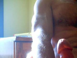 The perspective makes my cock larger than it is.  But wouldn\'t it be nice?