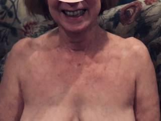 Her smile is so beautiful as are her lovely breasts are so much fun to play with😎