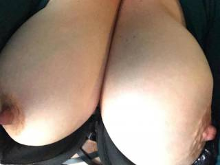 Sitting at my desk fantasizing about having someone cum all over my breast and having my sexy little co-worker slowly lick the cum off of my nipples while we masturbate together licking each others nipples.