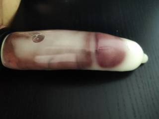 Cum filled condom
