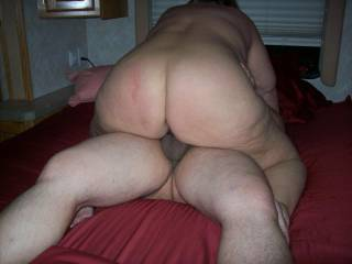 Mrs Daytonohfun and her nice round MILF ass riding my cock as her hubby watched and took pics of his wife fucking me