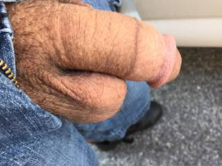 You could let it hang in my mouth so I could pleasure you and swallow all your warm cum.