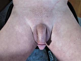 showing you my smooth cock, waiting for inspiration