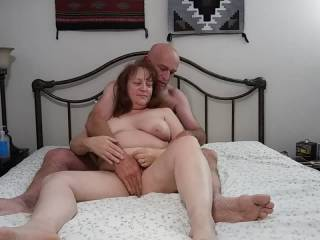 I thoroughly enjoy when my man takes care of my pussy. His massages of my clit send me in to orbit! Of course, he was not going to get away with this without getting his cock stroked! Needless to say, I made him cum.