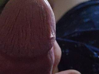 Precum is oozing out