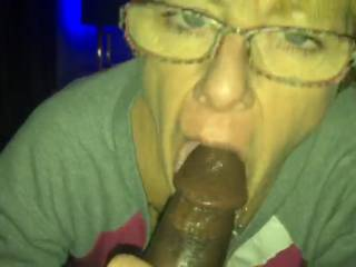 The spectacled bbc addict blowjobqueen doing her boundful DUTIES