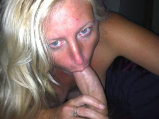 Sucking my 1st cock of the night i had 2 more waiting behind camera! xxx