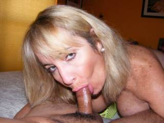Ill bet!  Id like to have my cock in her mouth while my wife sucks yours!