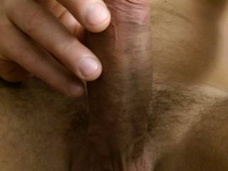 That is so hot. I would love to gobble up that precum.