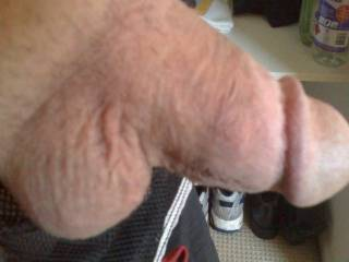 sweet little shaven cock m8 just like mine , definitely want to play with yours :) ;)