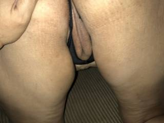 About to lick my wife pussy and ass.  Which one should I lick first?