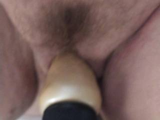 Fucking my friend with a dildo.