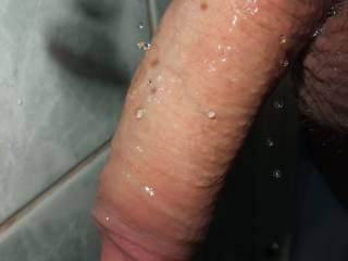I'd love to catch the water dripping off your cock in my mouth;)  Sonny
