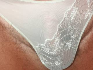 I do too.  White panties are so sexy...on women or men.