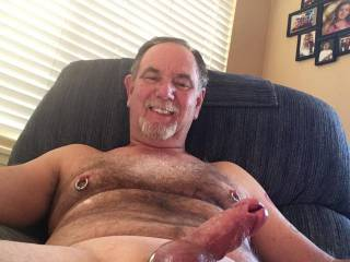 Enjoying a afternoon with my hard penis