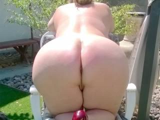 Wife's beautiful big fat white ass.