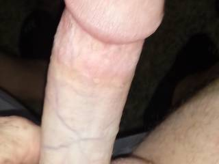 Hard cock ready to give a lucky lady a warm cum tribute!
