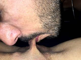 Her pussy is so tasty and wet. Can\'t get enough of those juices.