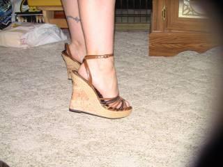 Wife's sexy heels