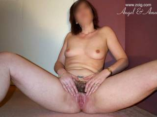 Nice snack I love that clit stickin out .   I'm getting so hard looking at your pics!!!