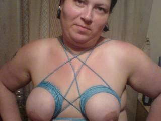 i love my my tits been tied up hope u like