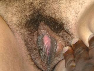 Love that hairy pussy. Can I help you lick it ?