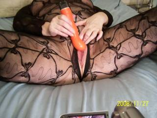 You are so beautiful in that bodystocking! Love your sexy legs and your pussy
