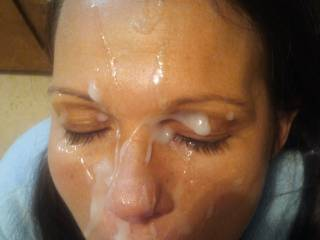 A facial many years ago. She had just started letting me give her one.
